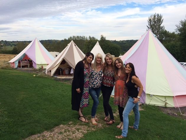 Hen party glamping midlands